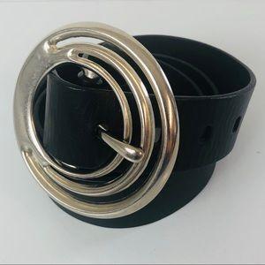 SILPADA Spiral Buckle Black Belt Sz L
